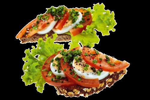 Fürstlich - Catering Service in Klagenfurt - Happas Catering - belegte Bio Vollkorn Brötchen mit Tomate und Ei