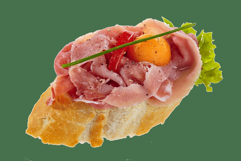 Fürstlich - Catering Service in Klagenfurt - Happas Catering - Bio Brötchen belegt mit Schinken und Ei